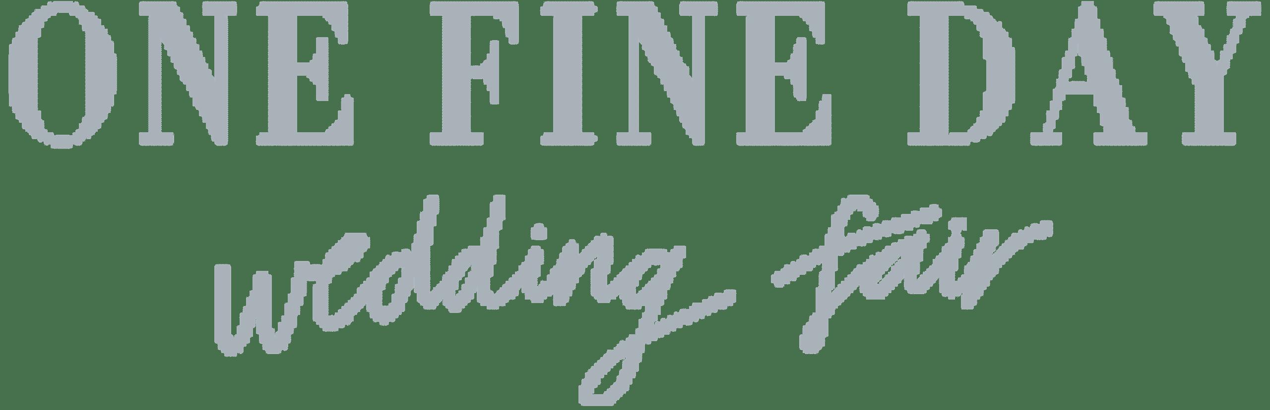 One Fine Day Wedding